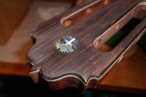 Inlay by Erin O'Toole on Arnie Gamble guitar.